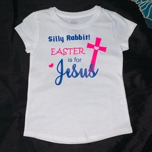 Made2order Silly Rabbit! Easter is for Jesus shirt
